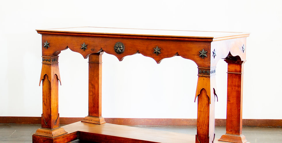 Rare Pair of Baltic Transitional Fruitwood Console Tables circa 1820