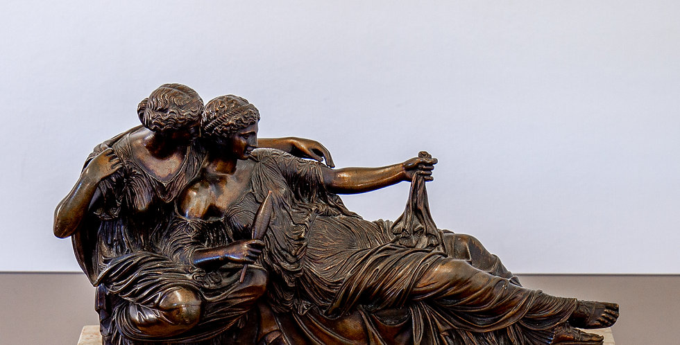 Superb Mid 19th Century Bronze of Ladies Spinning, After the Antique