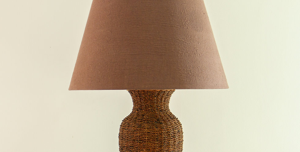Single Woven Reed Lamp, 1970s