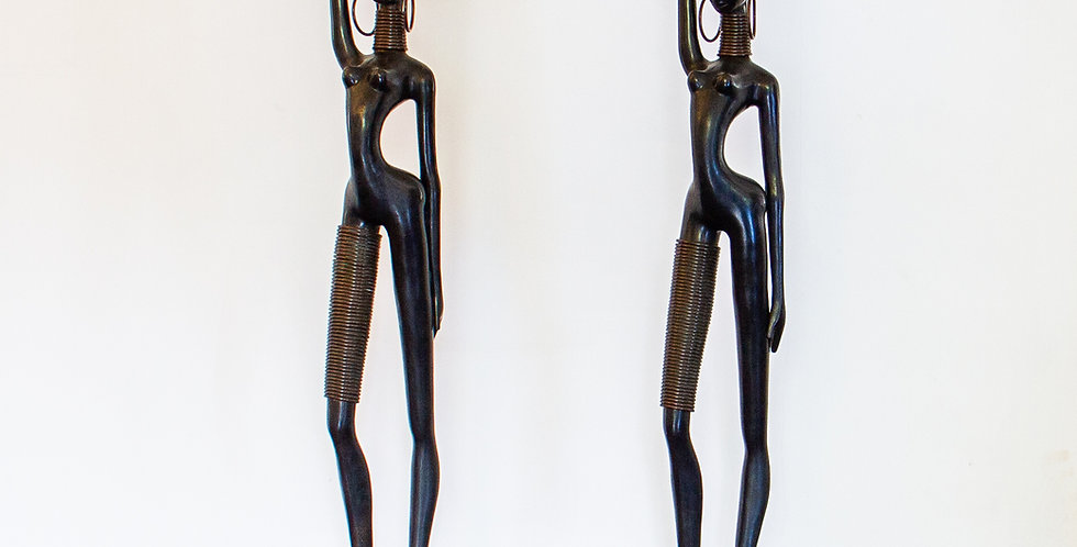 Pair of Hagenauer Style Nubian Figures 1970s