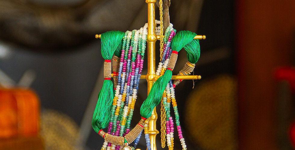 Parrot Topped Brass Jewellery Stand, circa 1860