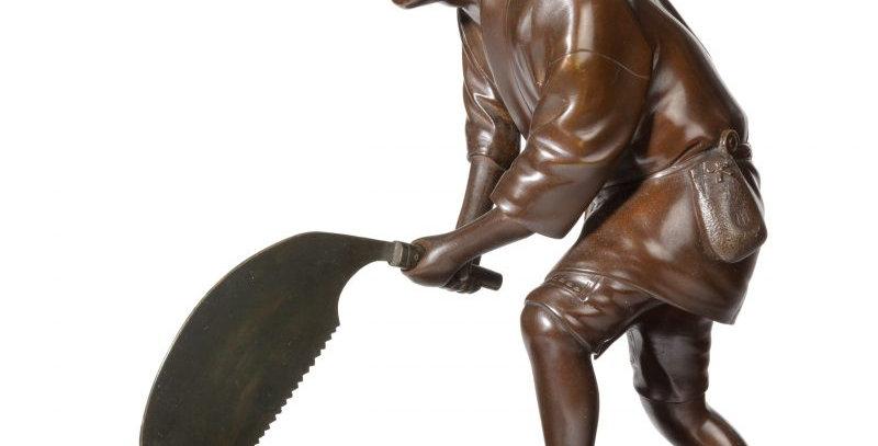 A Meiji Period Bronze of a Woodcutter