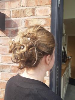 Lisa hair up back view