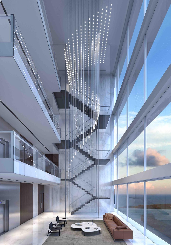 Miami Aston Martin Residences Sky Lobby Stairs
