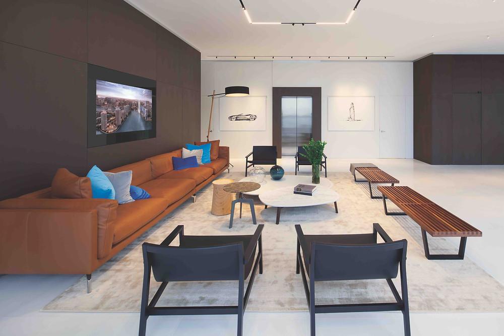Custom Red Oak Interior Finishes at Aston Martin Residences