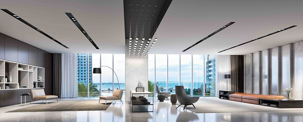 Miami Aston Martin Residences in Miami Upper West Lobby