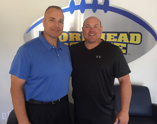 Dave Sichterman of Arete 360 and Rob Tenyer, Head Football Coach, Morehead State University
