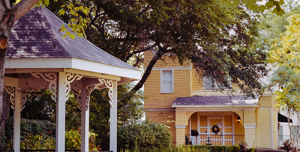 Victorian gazebo and guest house -