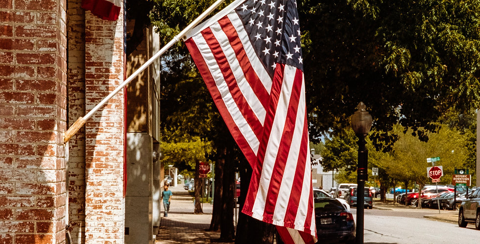 Stars and Stripes proudly displayed