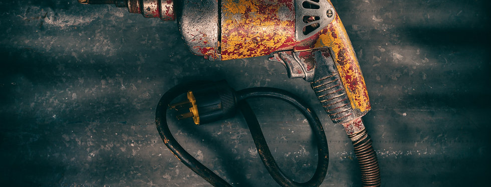 Still Life Photography | Vintage Electric Drill -with ray gun style