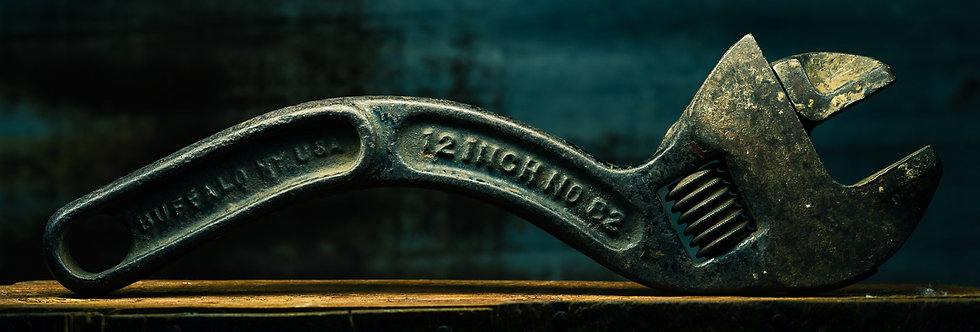 Still Life Photography |Vintage adjustable wrench | Photography Wall Art