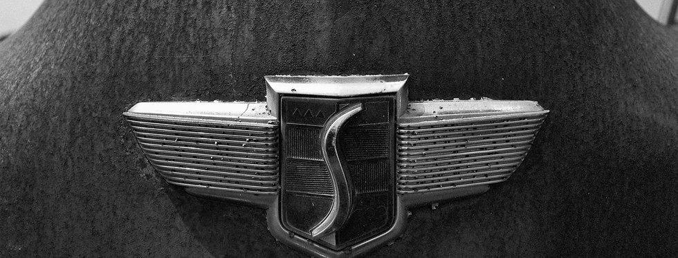 Studebaker Hood ornament, Black and White Photography, Fine Art photography