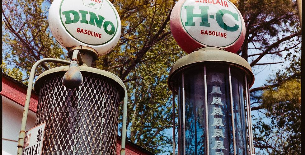 Vintage Sinclair petroleum pumps