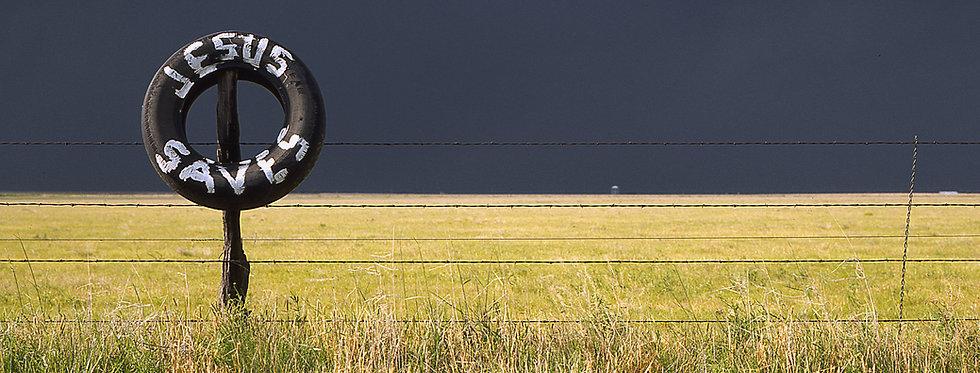 Jesus Saves - Dark storm headed for Amarillo