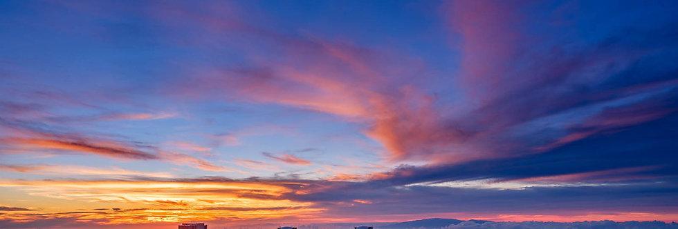 Sunset at  Mauna Kea Observatories