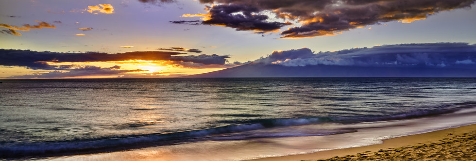 Sunset on the beach, Kaanapali