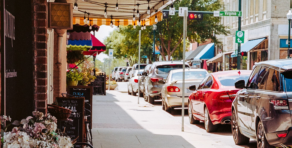 The square in old downtown  McKinney Texas