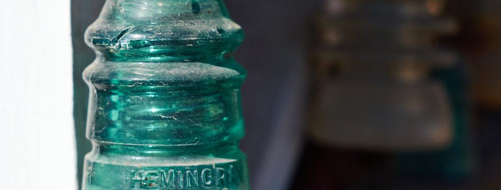 Hemingray #12 Glass insulator for phone lines