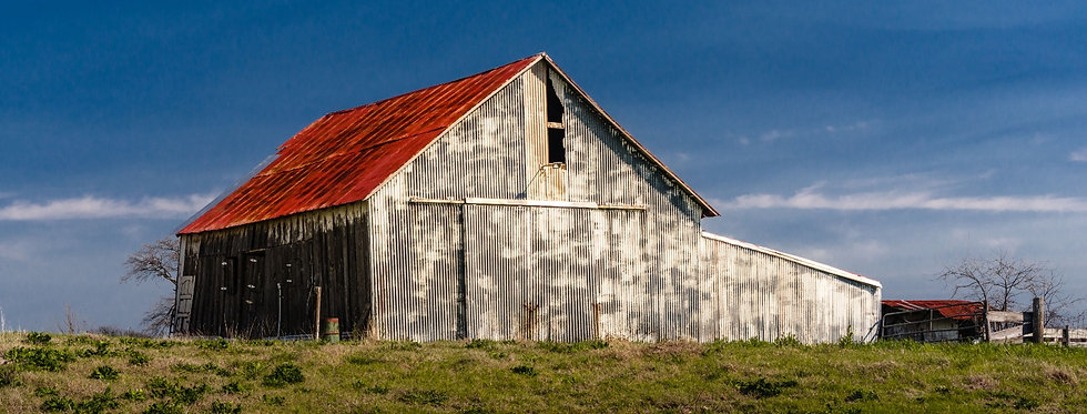 Old wooden  barn in Texas