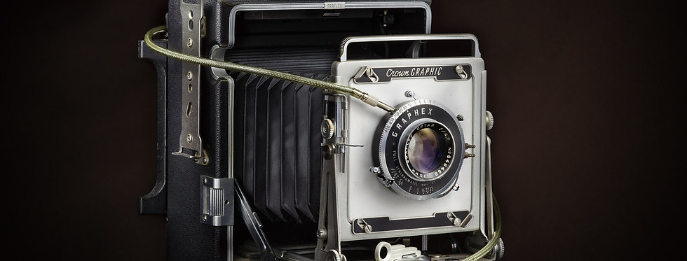 Still Life Photography | 1950's Crown Graphic press camera