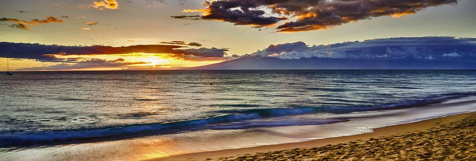Sunset on the beach, Maui Hawaii