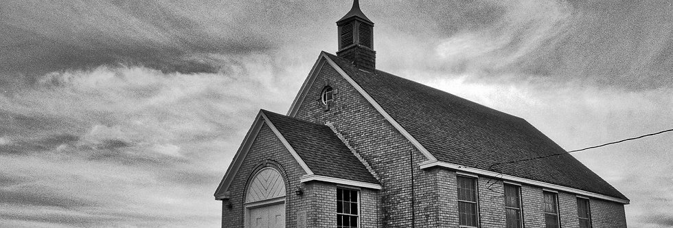 Church with crooked steeple