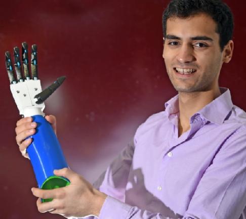 Scottish students pioneer cut-price 3D-printed bionic arm