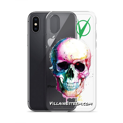 Villain Esteem Technicolor Skull iPhone Case