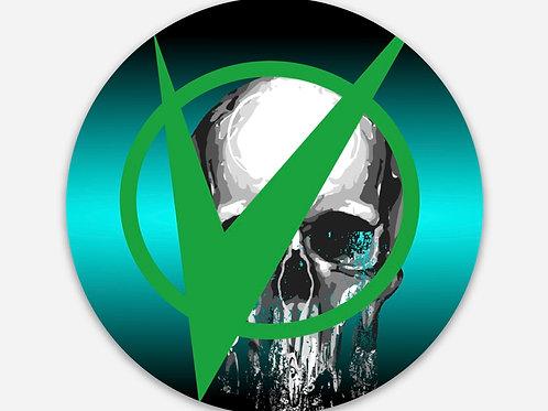 VE Drippy Skull Sticker