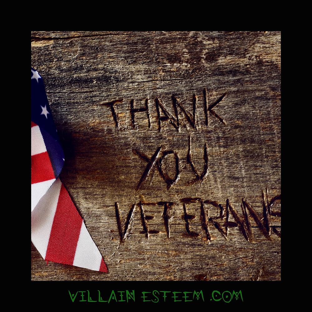 American Flag, Veterans, Mental Health, Villain Esteem