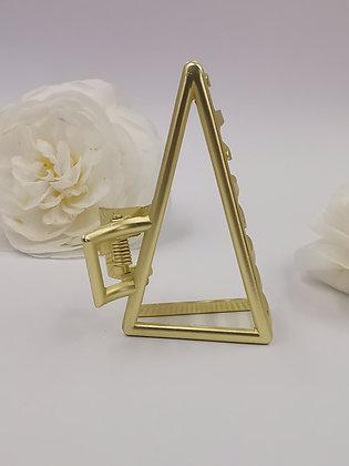 Pinza Triángulo XL Dorada