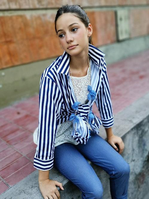 Camisa Madison azul rayas