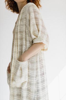 Chaqueta Kimono Okinawa crudo hilo dorado