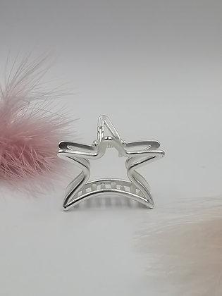 Pinza estrella M Plateada