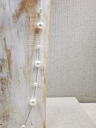 Collar perla blanca