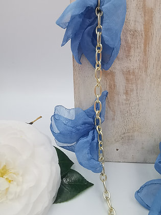 Collar seda  blue