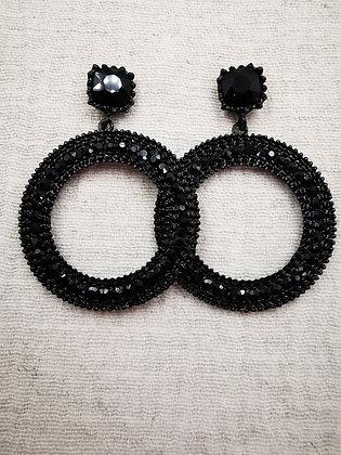 Pendiente Black Round