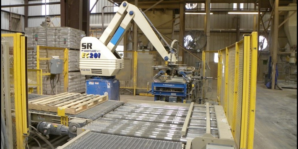 Robotic product handling provides production efficiency as well as tight finished product packaging.