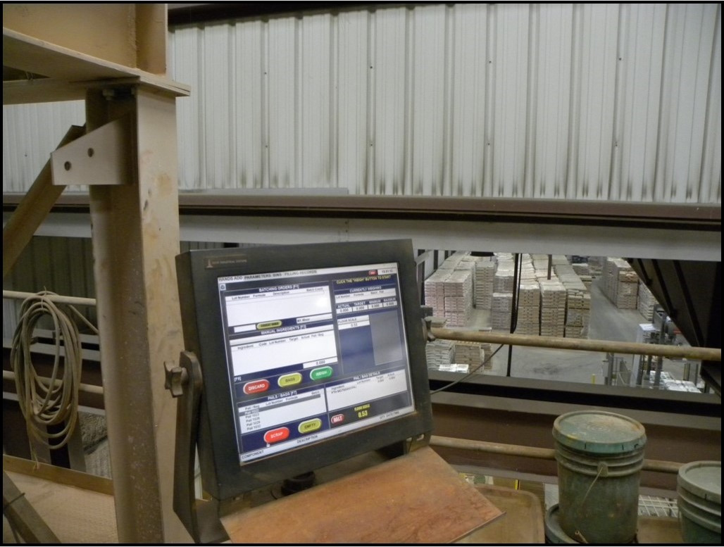 Computer-controlled production systems ensure accuracy of mix ratios in finished products.