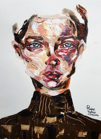 21.8.2016 Bruised, Acrylic Paints