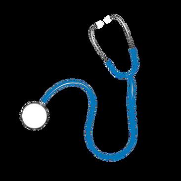 stéthoscope bleu