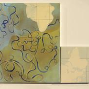 """Géographie parallèle """"l'Afrique',60x70cm 2013"""
