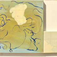 """Géographie parallèle,""""l'Australie""""acrylique et huile sur toile, 60x70cm 2015"""