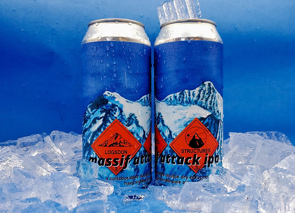 4 Pack MASSIF ATTACK-ddh Hazy IPA w/ Structures Brewing