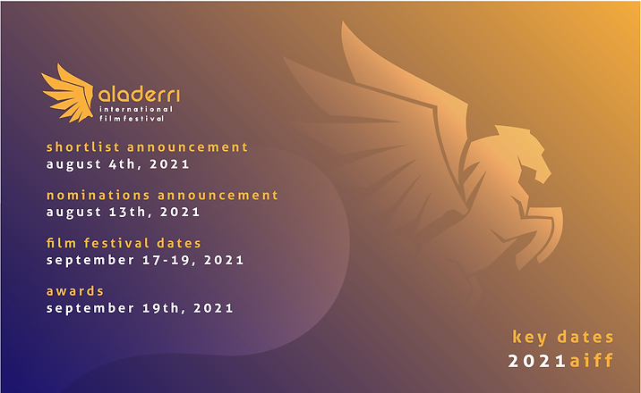 The Aladerri International Film Festival announced key dates for the 2021 edition. Aladerr