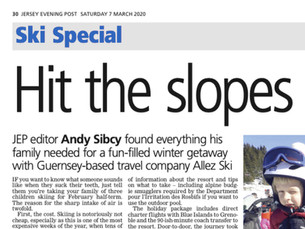 """""""Read all about it!"""" Allez Ski in the Jersey Evening Post"""