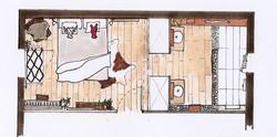 plan de chambre/salle de bain