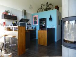 cuisine noir bois et bleu!