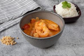 Röd Curry med räkor