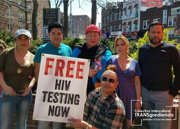 Nuestrxs Voluntarixs en el National Transgender HIV Testing Day